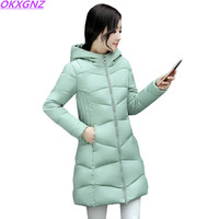 Fashion Winter coat Women winter jacket NEW100% High quality Large size Hooded warm cotton jacket Elegant Female costume AH329