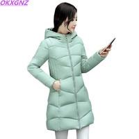 Fashion Winter Coat Women Winter Jacket NEW100 High Quality Large Size Hooded Warm Cotton Jacket Elegant