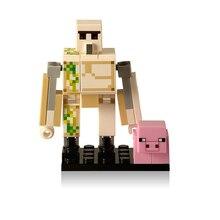 Única Venda DIY Estilo Zumbi Minecrafted Steve legoings figura Blocos de Construção Tijolos Compatível Modelo da cidade de Tijolos Brinquedos para crianças