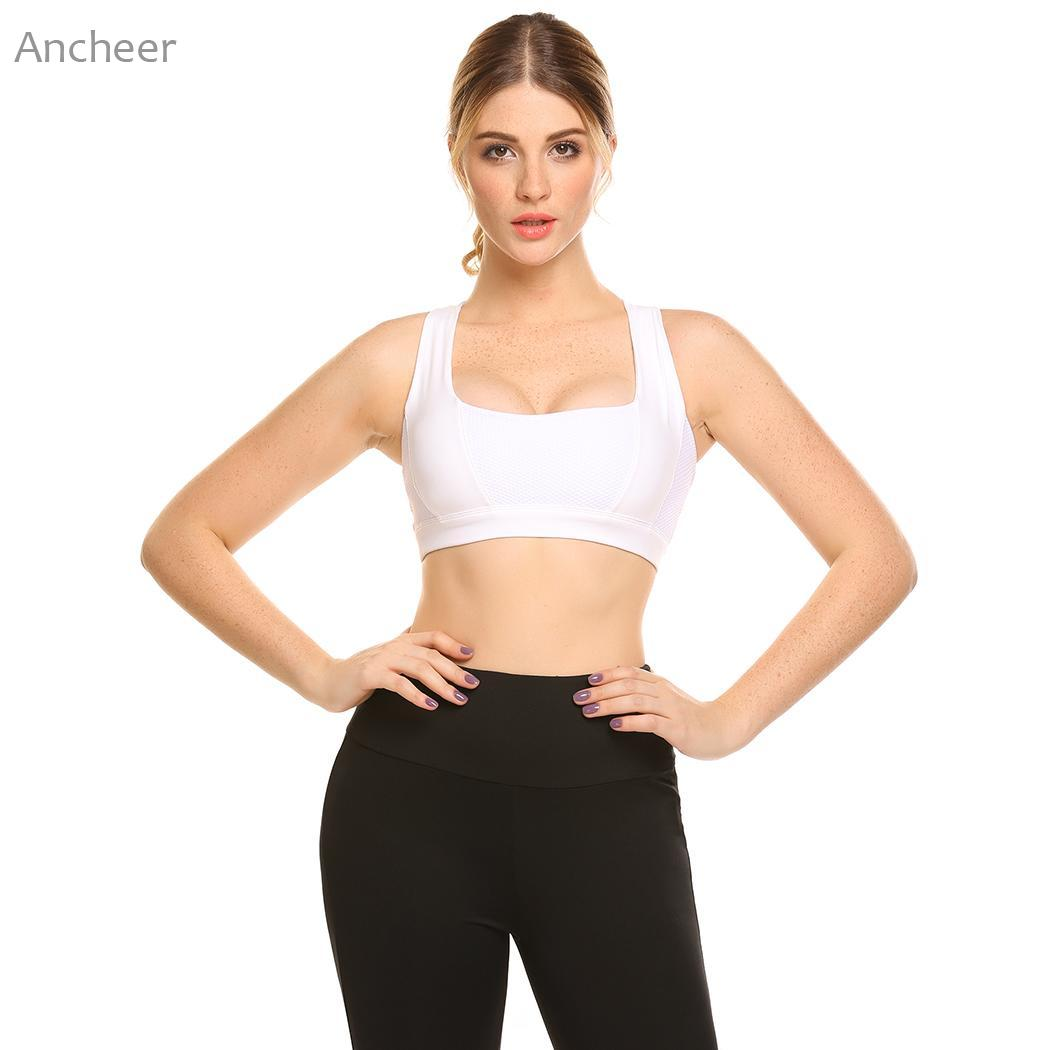 Icyzone Women Activewear Yoga Clothes Strappy Crisscross: Women Sports Bra Underwear Cross Strap Back Hollow