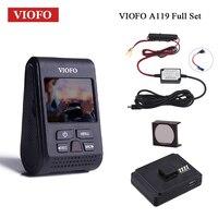 VIOFO Car DVR A119 V2 Dash Cam 2.0 LCD Car DVRs Capacitor NT 96660 HD 1080P Dash Camera GPS mount CPL Filter Hardwire kit fuse