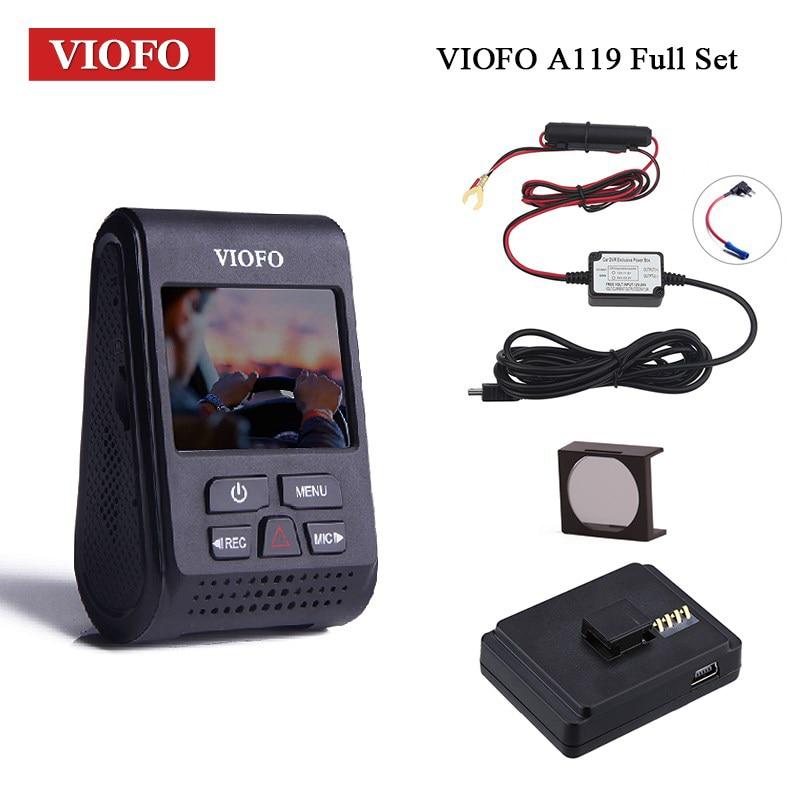 VIOFO Voiture DVR A119 V2 Dash Cam 2.0 LCD Voiture Dvr Condensateur NT 96660 HD 1080 P Dash Caméra GPS montage CPL Filtre Câblé kit fusible