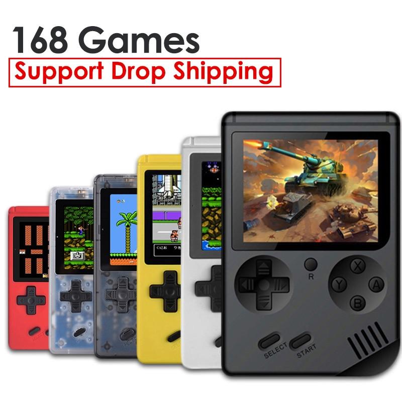 RS-6A rétro Mini Console de jeu de poche 8-Bit 3.0 pouces couleur écran LCD enfants joueur de jeu intégré 168 jeux lecteur Portable chaud