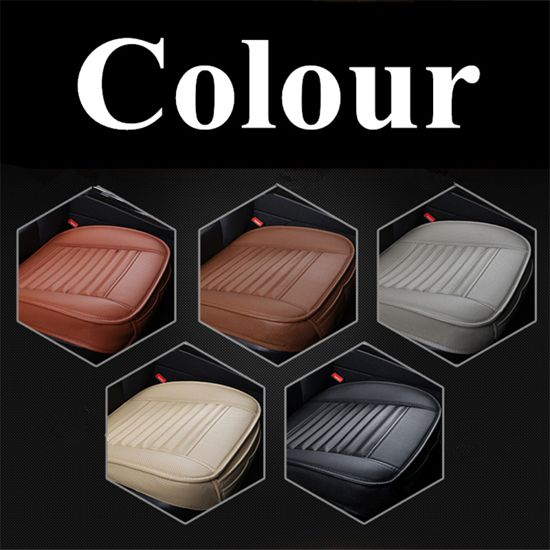 Image 5 - Car Seat Cushions Car Cushion Side Around Seat Cover Four Seasons Car Seat Covers Bamboo Charcoal Pu Leather Seat Protector-in Automobiles Seat Covers from Automobiles & Motorcycles