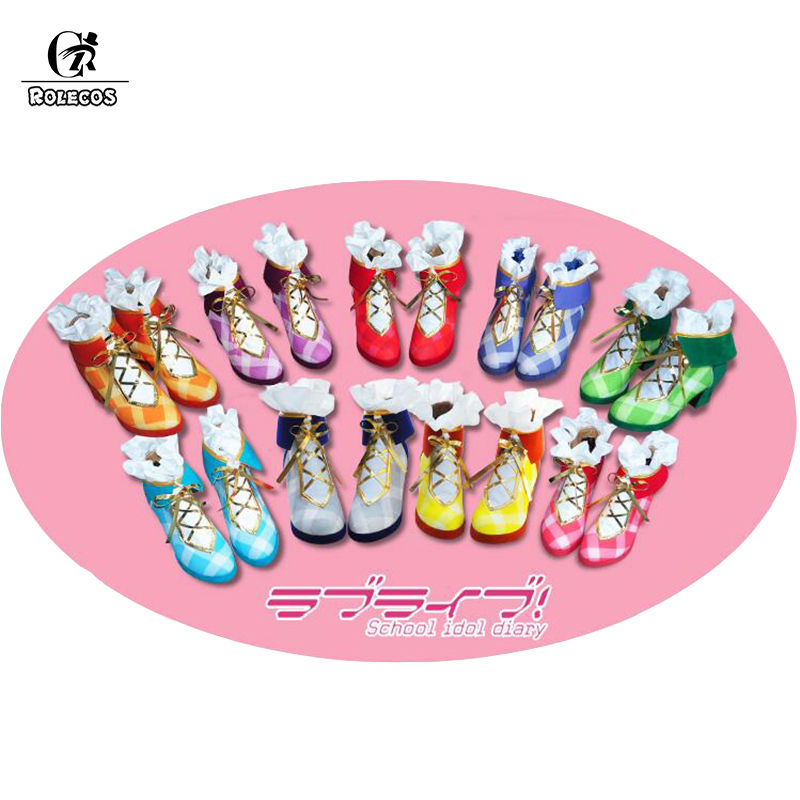 ROLECOS Anime Love Live All Characters Cosplay Shoes Flower Bouquet Arousal Kousaka Honoka Minami Kotori Ayase Eli Cosplay Shoes