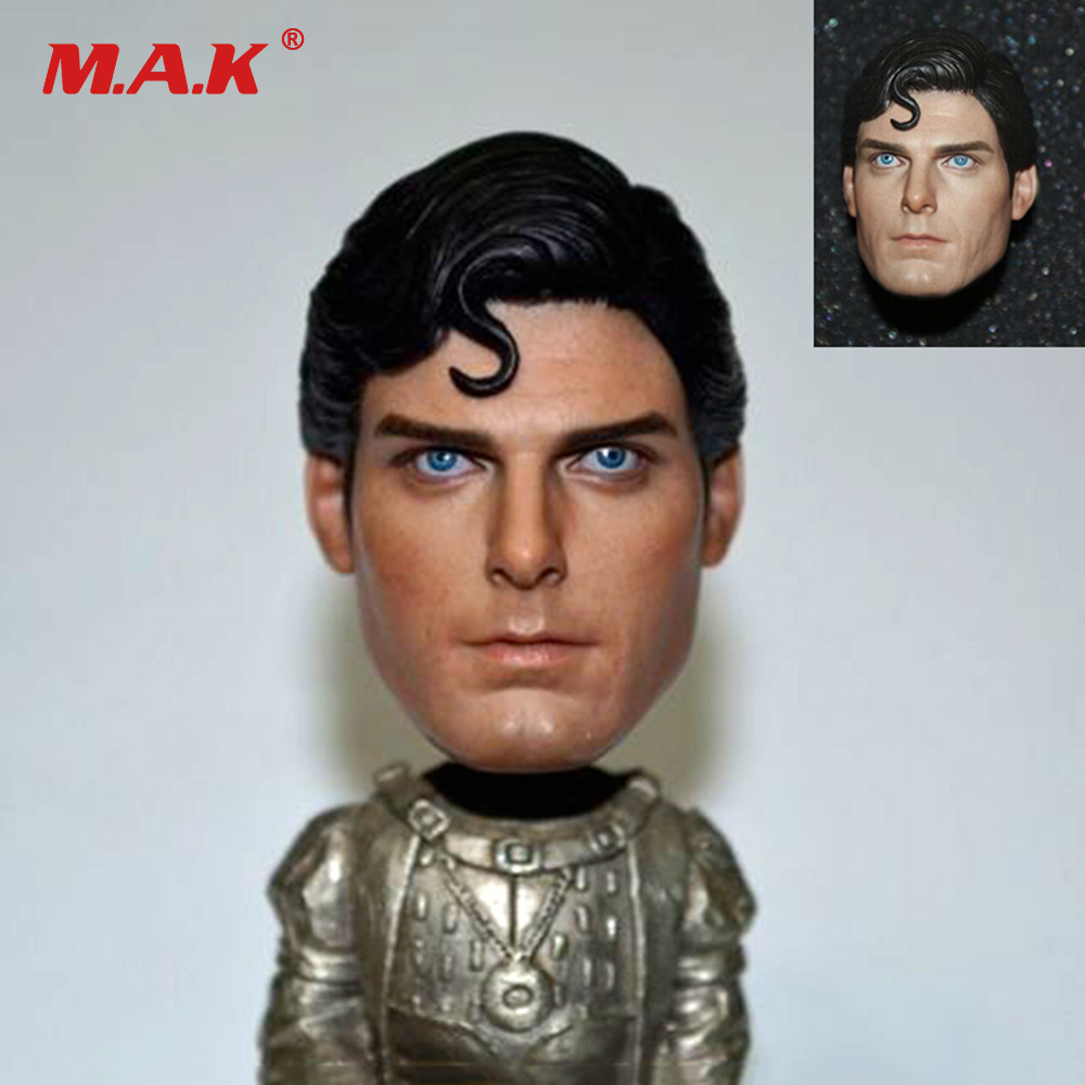 1/6 Scale 1978 Edition Superman Christopher Reeve Head Sculpt Male Head Carving Model Toys for 12 Inches Action Figure Body 1 6 scale wolverine 3 logan hugh jackman head sculpt for 12 figure hot toys male head carving soldier head model toys