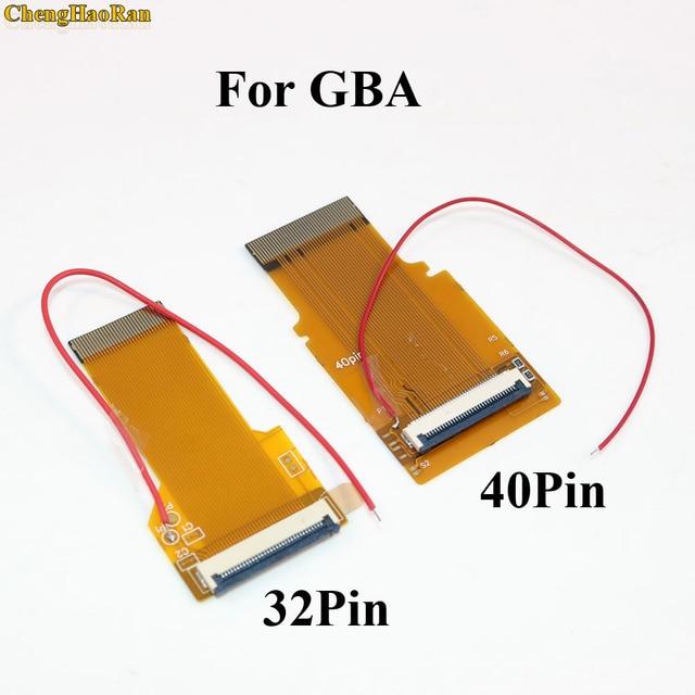 1 PC החלפת 32Pin 40 פין עבור Gameboy Advance MOD LCD תאורה אחורית כבל סרט עבור GBA SP עם תאורה אחורית מסך Mod 32 P 40 P