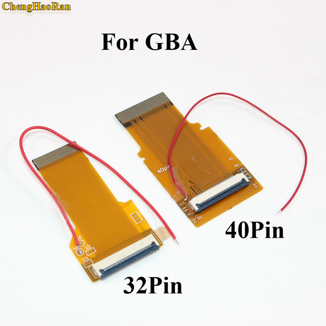 1PC Replacement 32Pin 40 Pin For Gameboy Advance MOD LCD Backlight Cable Ribbon for GBA SP Backlit Screen Mod 32P 40P