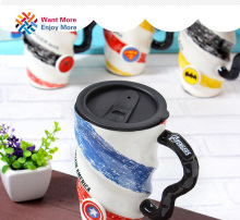 Captain America Batman Superman Spider-man  Avengers High-capacity Ceramic Mug With Handle Cover