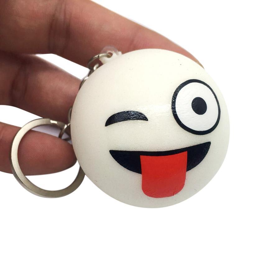 Squishy emoji хлеб душистый замедлить рост squeeze снятие стресса игрушка Ключ Пряжка Y0330