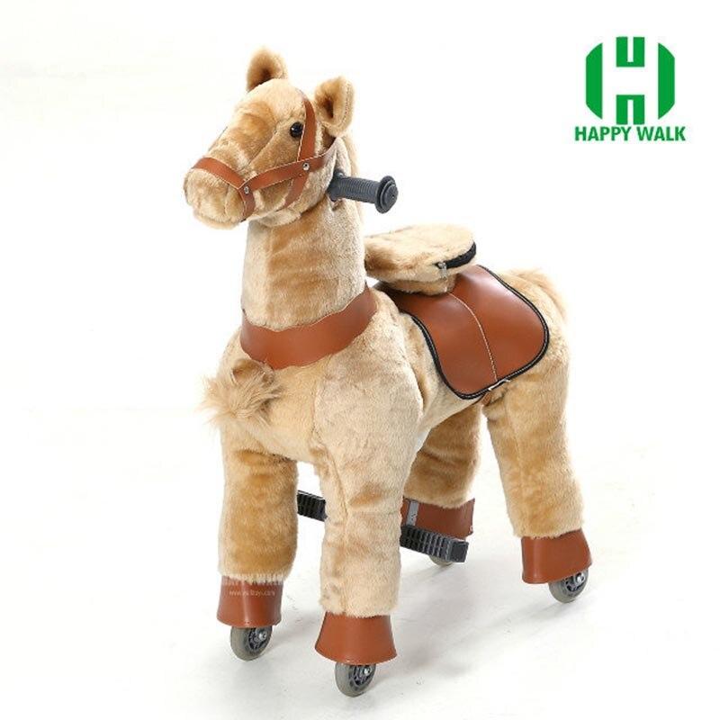 Paseo en caballo de juguete con ruedas para chico de peluche de tamaño s animales paseos Scooter regalos de Navidad para chico niños regalo de Cumpleaños de Año Nuevo-in Animales de juguete para montarse from Juguetes y pasatiempos    2