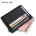 Rinka doll Genuine Leather Credit ID Card Holder Wallet Multifunction Passport Vintage men id card Travel Storage Bag Key case
