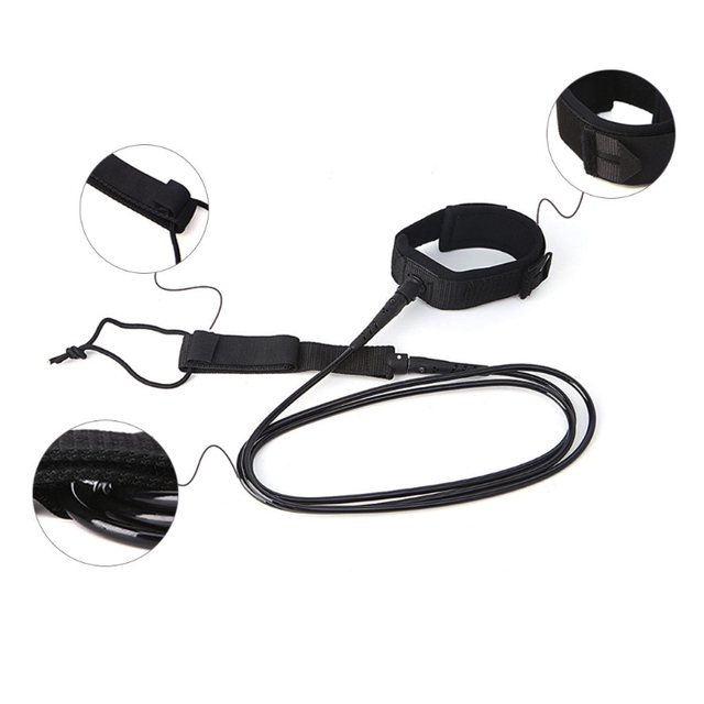 TPU Surfing Surfboard Leash Super Strong Paddle Board Foot Cord String Leg Rope 1