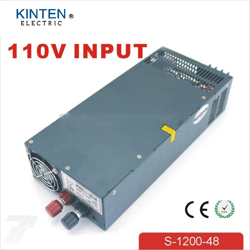 1200W 48V 25A adjustable 110V input Single Output Switching power supply for LED Strip light AC to DC 1200w 36v 33 3a adjustable 110v or 220v input single output switching power supply for led strip light ac to dc