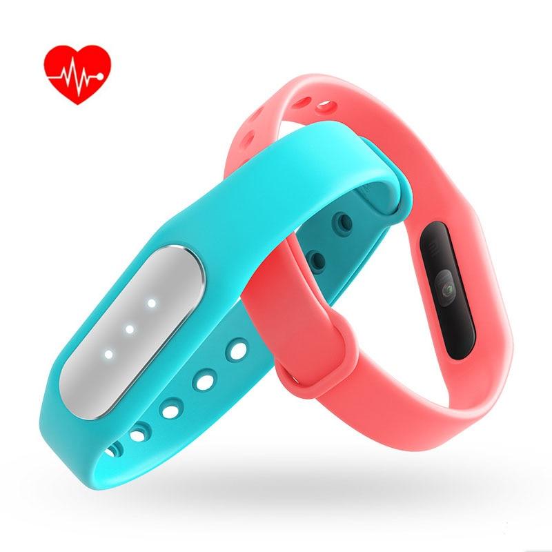 100 Original Xiaomi Mi Band 1S Smart Miband Heart Rate Monitor Bracelet Tracker Fitness Wristbands Smartband