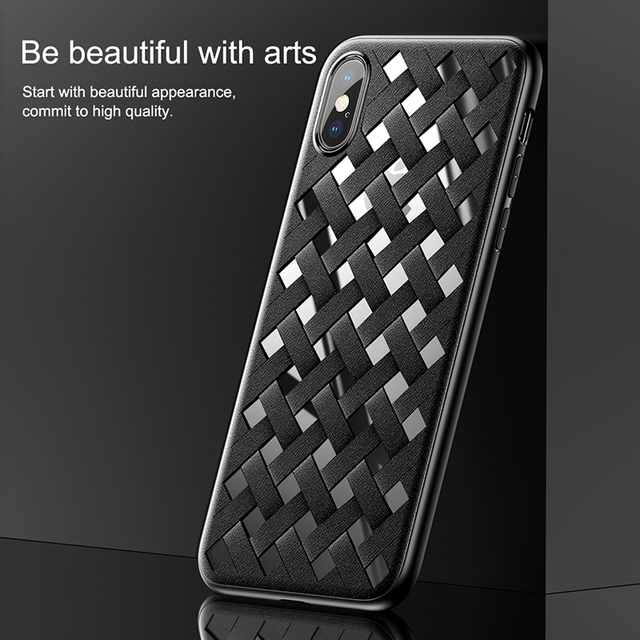 Baseus iPhone X Luxury Grid Weave Hollow Back Cover Case