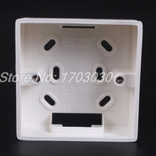 5 x White PVC Flush Mount One Gang Wall Switch Pattress Back Box 86x86x33mm
