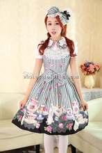 Sweet Teapot & Rabbits Printing JSK Lolita Tea Party Dress