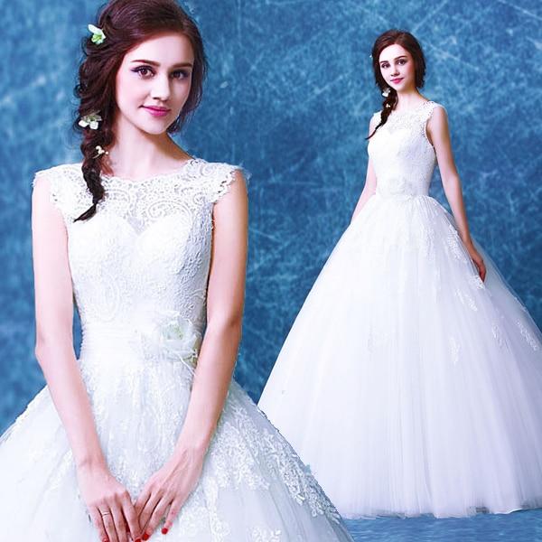 Simple Plus Size Wedding Dresses: S 2016 New Stock Plus Size Women Bridal Gown Wedding Dress