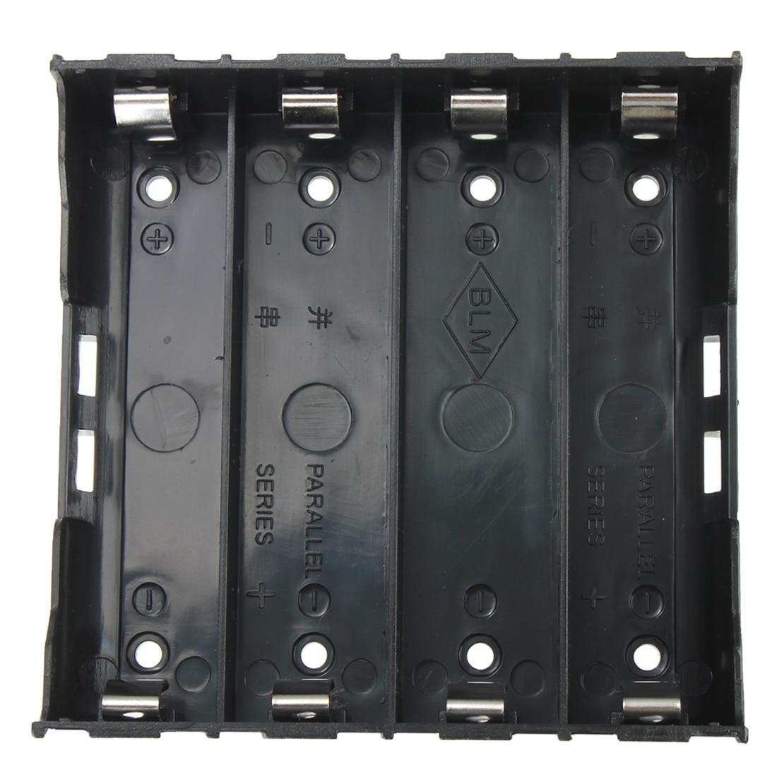 Top Deals 10x Battery Holder Box Case Black for 4x 13.7V 18650 Battery