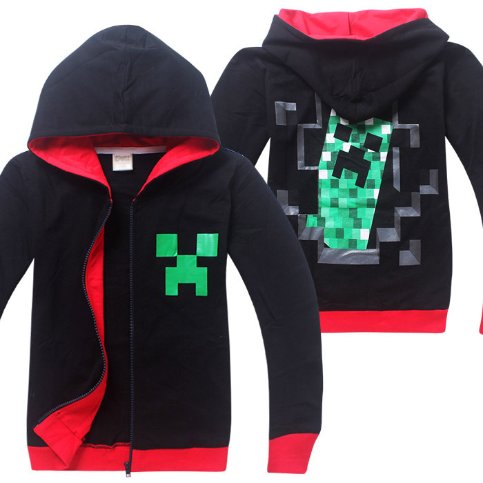 Spring Minecraft Jacket for Boys Children Clothing Cartoon Outwear Streetwear Cotton Hoodies Kid Clothes Spider-man Winter Coat
