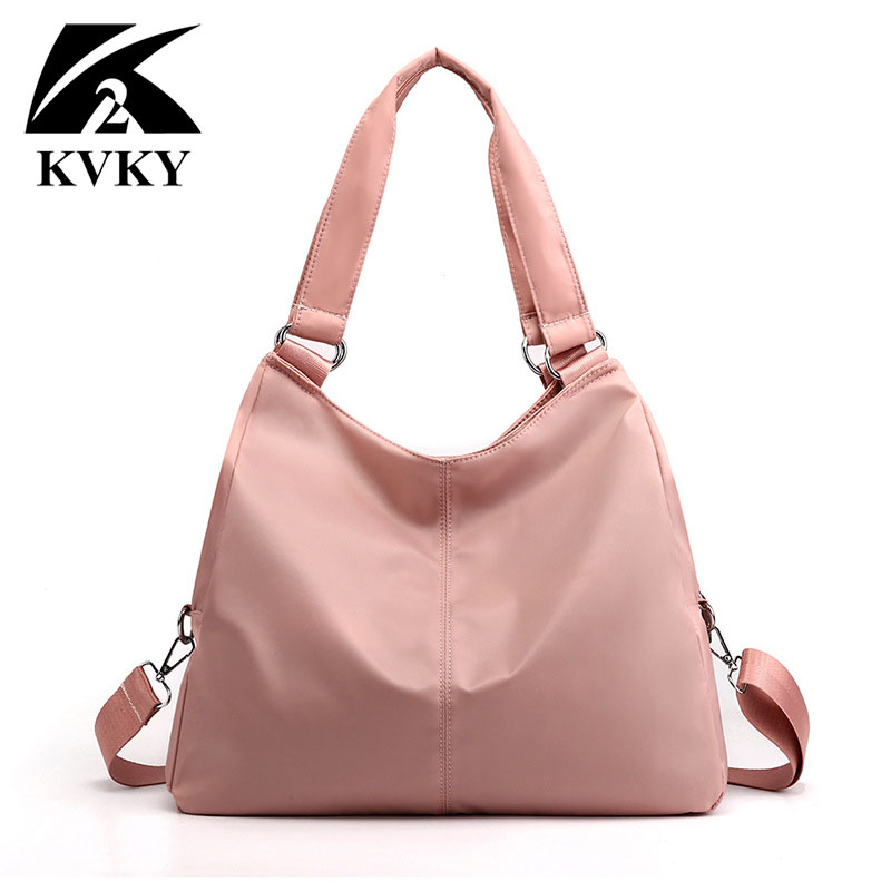 2019 New Casual Women Handbag Waterproof Nylon Shoulder Bag Fashion Design Good Quality Wear-resistant Big Tote Messenger Bags