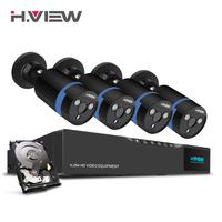 H View 16CH Surveillance System 4 1080P Outdoor Security Camera 1TB HDD 16CH CCTV DVR Kit