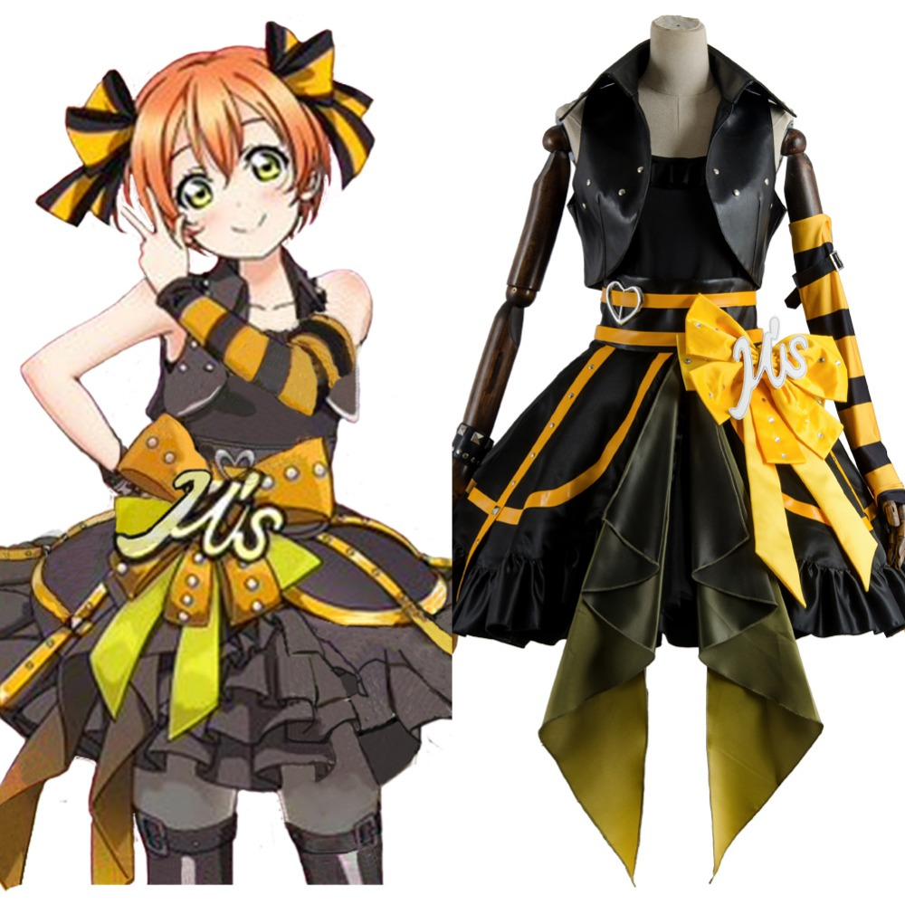 Cosplay Love Live Arcade 3rd Gen Rin Hoshizora Stage Suit Cosplay Costume Uniform Dress Outfit Love Live Cosplay Rin Hoshizora
