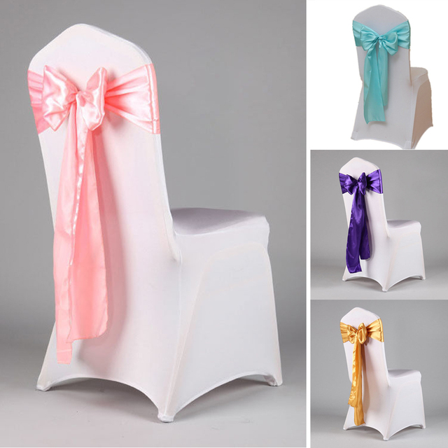 10 Pcs Satin Bow Ties For Banquet Wedding Party Erfly Craft Chair Cover Decor Supplies