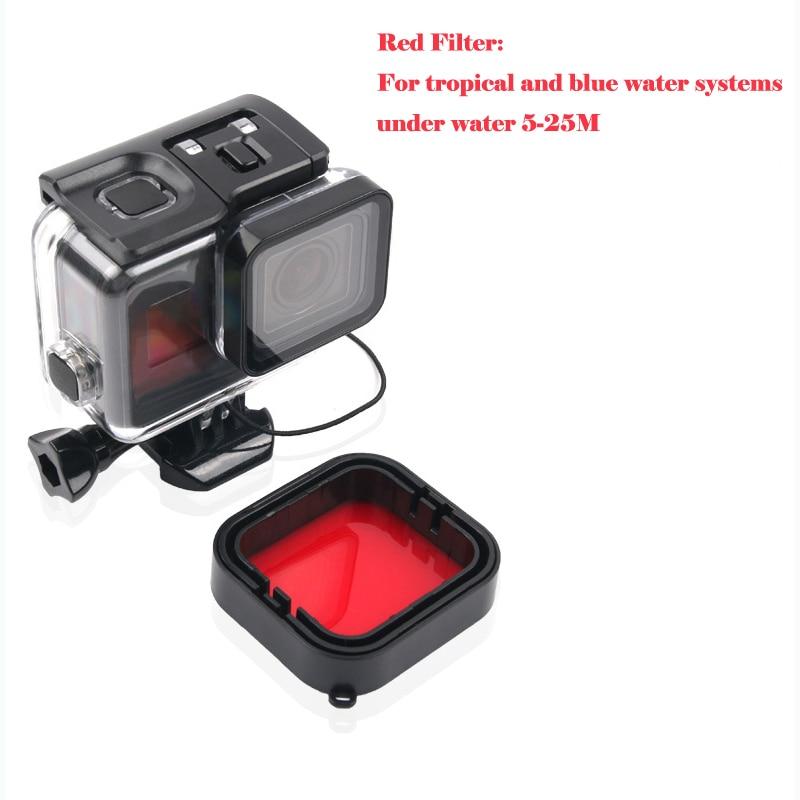 Купить с кэшбэком Go pro 5 Dive Lens Color Filter Set For GoPro Hero 6 Hero 5 Accessories Go Pro HERO5 HERO6 Black Camera Super Suit Housing Case