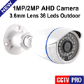 CCTV Camera 2000TVL AHD Camera 720P 1080P Outdoor Waterproof 3.6mm Lens 1.0MP 2MP Bullet Security Camera Work For AHD DVR