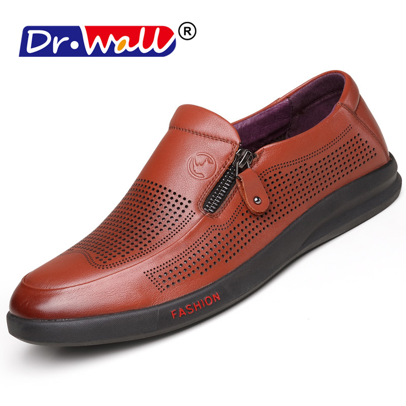 2018 New Italian Men Casual Shoes Summer Genuine Leather Men Loafers Moccasins Slip On Mens Flats Breathable Male Driving Shoes
