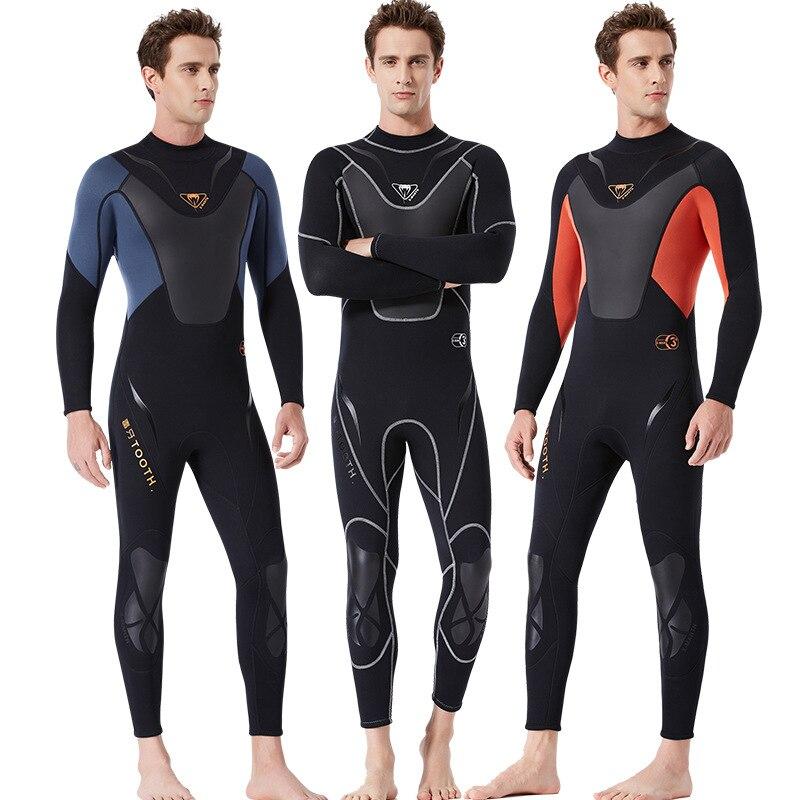 C380 combinaison de plongée pour hommes 3 MM siamois à manches longues épaississement froid plongée en apnée surf en plein air hiver méduses vêtements