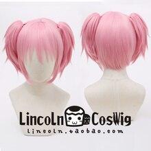Kaname Madoka Pink Wig Cosplay Synthetic Hair Halloween Cosplay Puella Magi