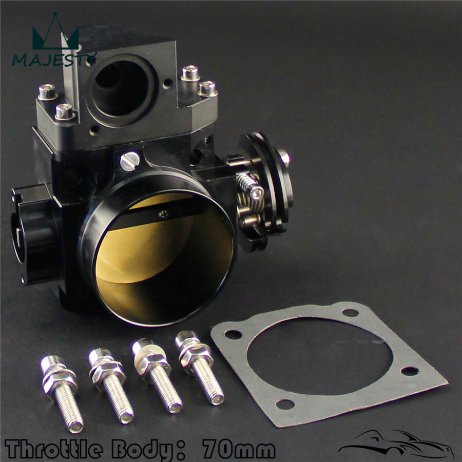 70mm Throttle Body for Mitsubishi EVO7 EVO8 EVO9 4G63 03 07 EVO 7 8 9 BLACK