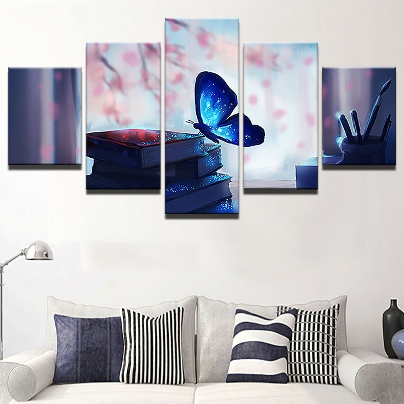 Modern Frames For Paintings Decorative Canvas Art 5 Panel Beautiful ...