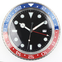 1piece Retail XL size Metal Watch Shape Wall Clock Calender Wall Clock with Date
