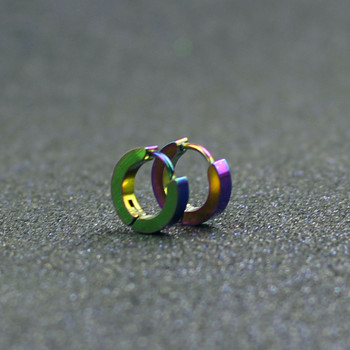 Small Hoop Earrings Silver Gold 316L Stainless Steel Hoop Earring for Women Men Ear Rings Clip Colored Circle Earrings e0213 2