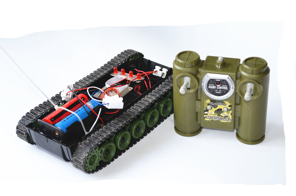 2.4G remote control DIY tank kit set 18650 robot caterpillar gzlozone diy kit njw1194 remote volume conrol kit treble