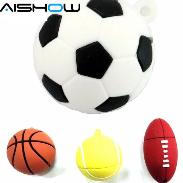 Futebol Pendrive USB Vara 64 GB 8 GB 16 GB 32 GB do basquetebol Dos Desenhos f354b2c551f1e