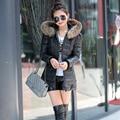 2016 New Arrival Winter Women Slim Down Coat Good Quality Zipper Hair Collar Down Coat Size:M-XXXL