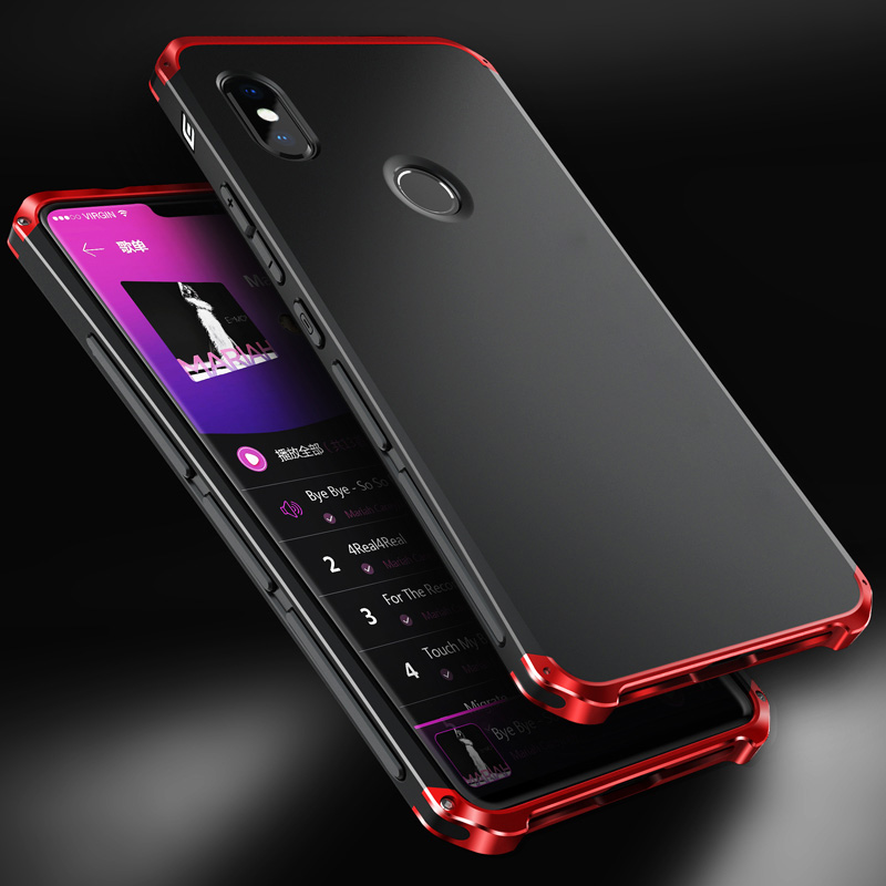 Global Shockproof Armor Case for Xiaomi Note8 Pro Case Luxury Metal Frame Hard TPU Frosted Case for Redmi Note 7 6 Pro mi9 Coque