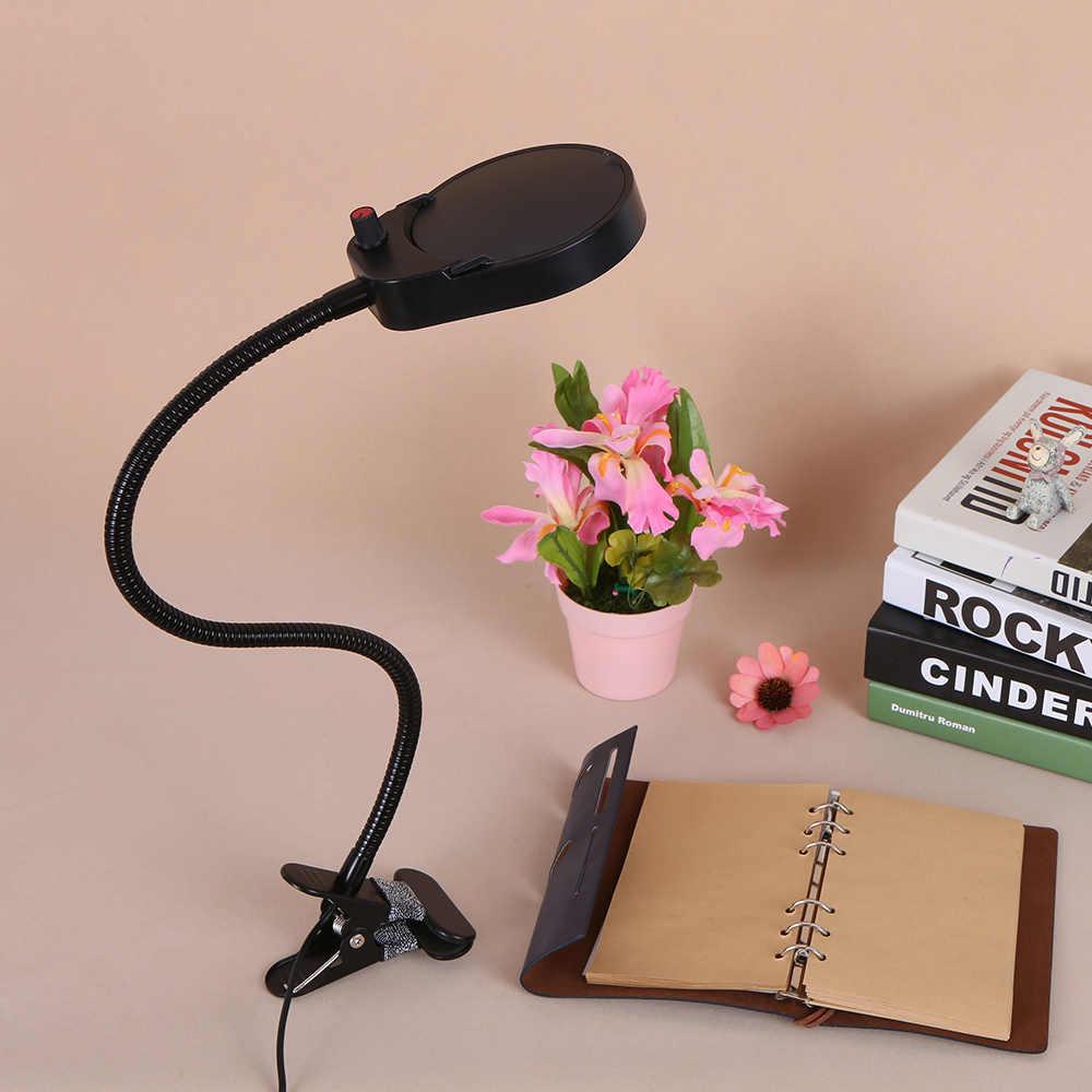 USB зарядное устройство Светодиодная настольная с зажимом свет SMD3528 настольная лампа 3X/10X увеличительная линза регулируемое эластичное кольцо Портативный дети света 5 Вт светодиодный свет