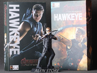 ALEN 22cm Marvel Anime The Avengers Action Figures Hawkeye Garage Kits With Gift Box For Children