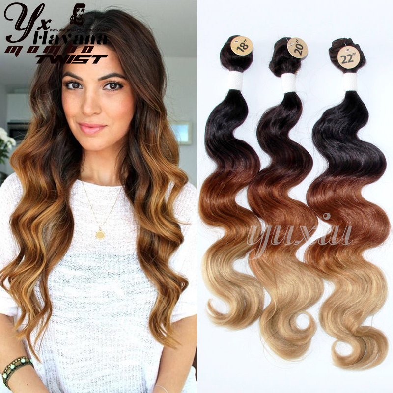 Black brown blonde 613 ombre synthetic hair extensions body wave 3 black brown blonde 613 ombre synthetic hair extensions body wave 3 bundles with closure ombre hair products long synthetic weave on aliexpress alibaba pmusecretfo Choice Image