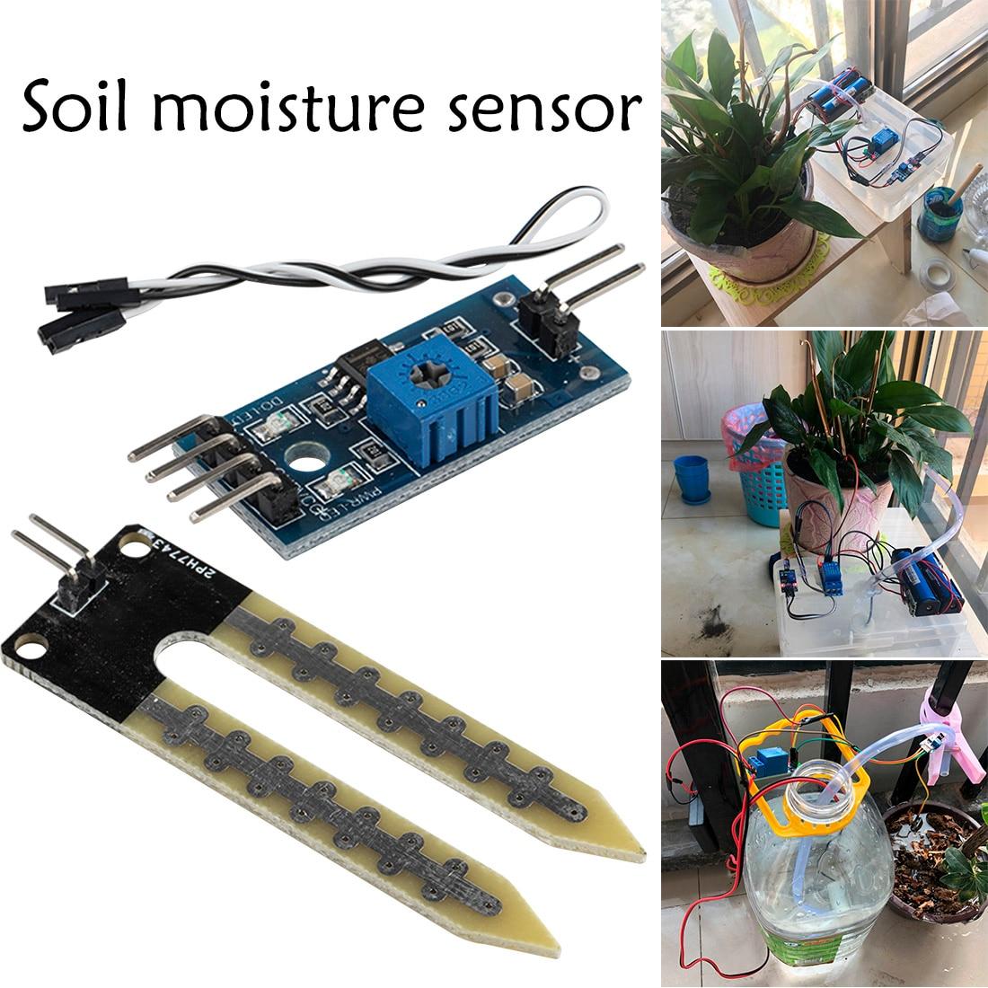 2PCS Soil Hygrometer Detection Module Soil Moisture Sensor For arduino Smart car