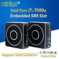 MINISYS Мощный мини ПК Intel Kaby Lake i7 7500u Двухъядерный 2 Ethernet Lan Micro itx настольный компьютер ТВ коробка для Windows 7 8 10