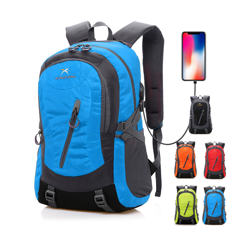 sports outdoor Adventure waterproof Mountaineering backpack climbing camping bag USB charging men/women Cycling travel knapsack outdoor sports bag mountaineering backpack climbing hiking cycling large capacity adventure backpack 45l waterproof camping bag