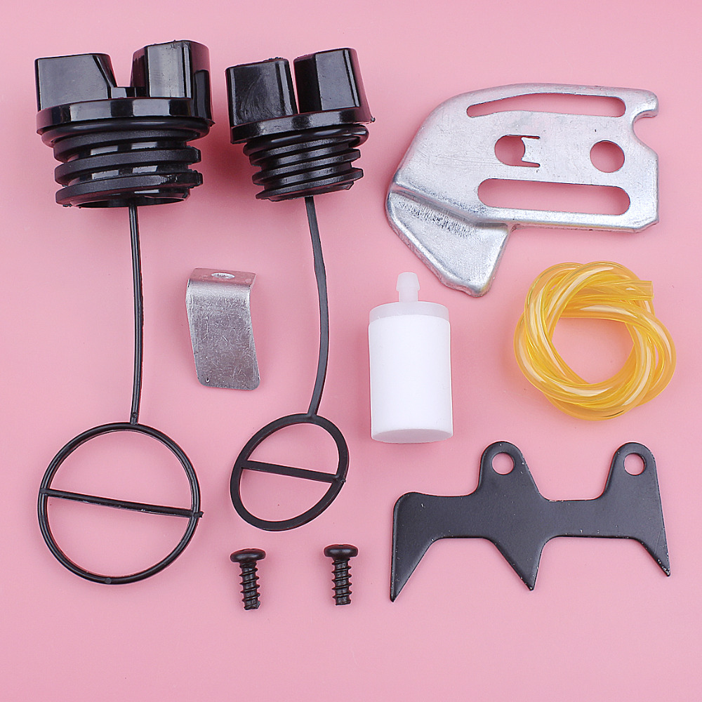 Fuel Filter Line Hose Oil Cap For Partner 350 351 Chain Catcher Felling Dog Bar Plate Kit Chainsaw Replacement Spare Part
