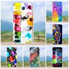 Onlytake Soft Live Love Phone For Samsung Galaxy A3 A5 A7 J1 J2 J3 J5 J7 2015 2016 2017 Er Watercolor Set Paint Box(China)
